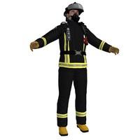 3d max fireman ready