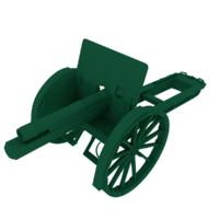 artillery gun 3d model