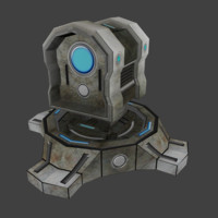 science fiction turret fbx
