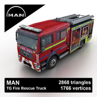 3ds max man tg rescue truck games