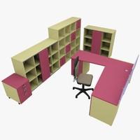 3d rack office table model