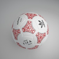 3d model football ball 10