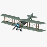 biplane plane 3d model