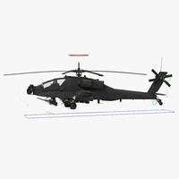 ah64a apache helicopter gray 3d model