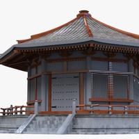 asian temple 3d x