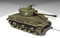 easy shermans tank 3d model