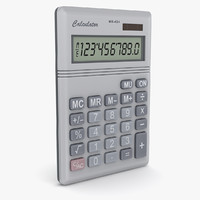 calculator number 3d max