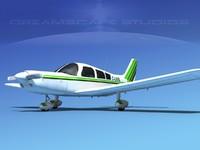 3d propeller piper pa-28 pa-28-235 model