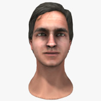 european male head 3d fbx