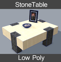 3d table stone model