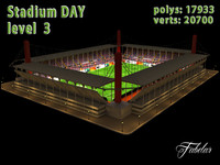 stadium level building 3d 3ds