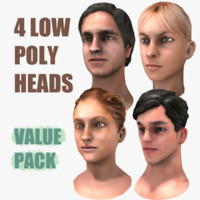 male heads obj