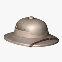 Pith Helmet, High Poly