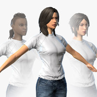 female character mmorpg body 3d model