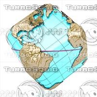 3d globe news laser model