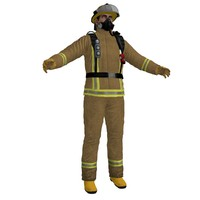 fireman 2 3d model