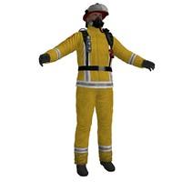 3d fireman ready model