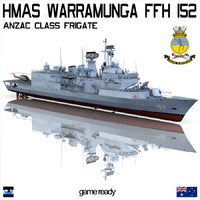 HMAS Warramunga FFH 152 Anzac Class Frigate