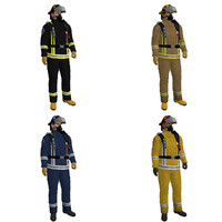 3d pack rigged fireman