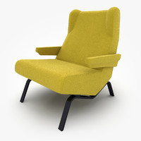 3d model of armchair ligne roset archi