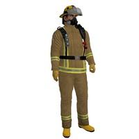 3d model rigged fireman 2