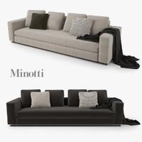 3ds max minotti leonard sofa