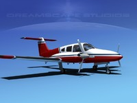 3d model piper seminole pa-44-180