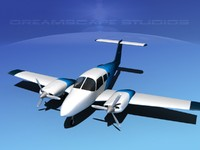 piper seminole 3d max