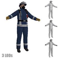 3d fireman 3 model