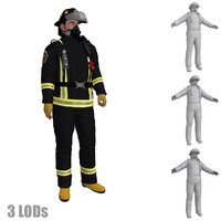 rigged fireman s 3d max