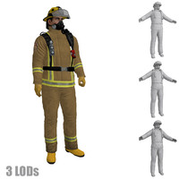3ds max rigged fireman s 2