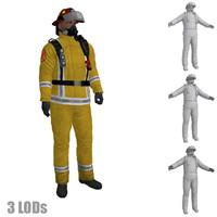maya rigged fireman s