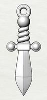 3dm sword pendant