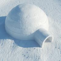 3dsmax igloo snow