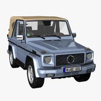 3d model g class convertible