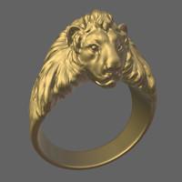 3d obj lion
