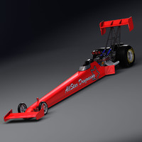 fuel dragster 3d obj