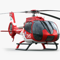 eurocopter ec 130 medical 3d model