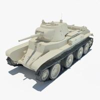 t7 combat car tank 3d model