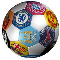 soccer ball club logo 3ds