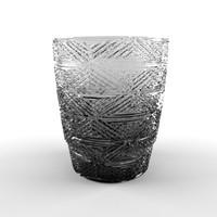 crystal glass 3d obj