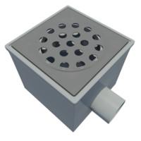 3ds max floor drain