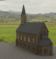 3ds max church