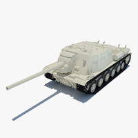 3ds max isu-122 tank