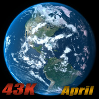 3d model earth april