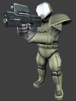 space soldier 3d obj