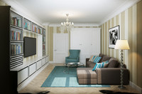 max living room interior