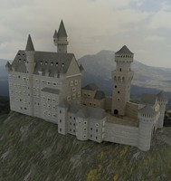 neuschwanstein 3d model