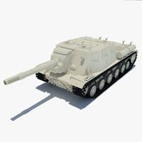 3d model isu-152 tank