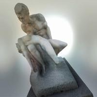 woman statue 3d max